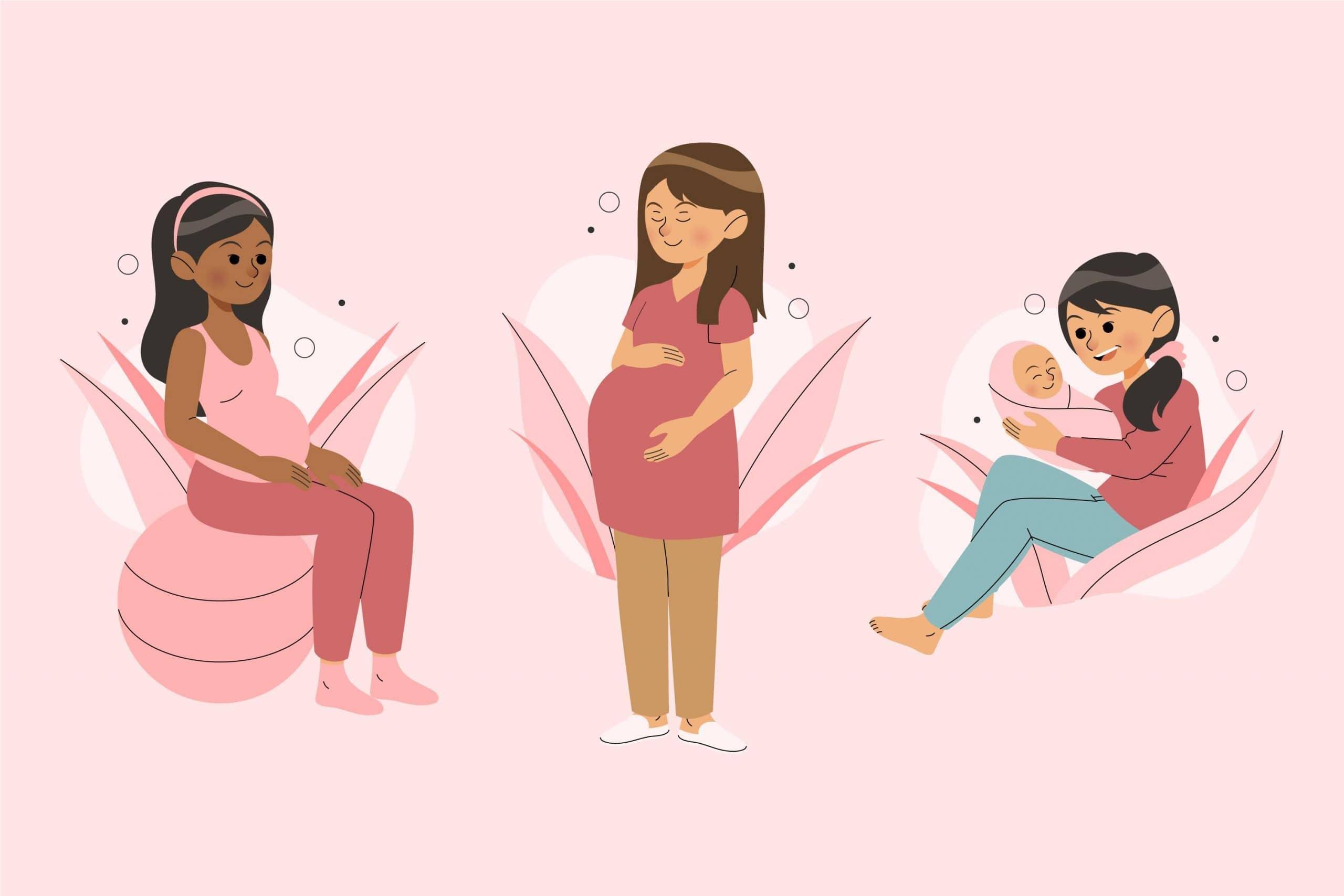 benefici chiropratica per donne incinte - illustrazion