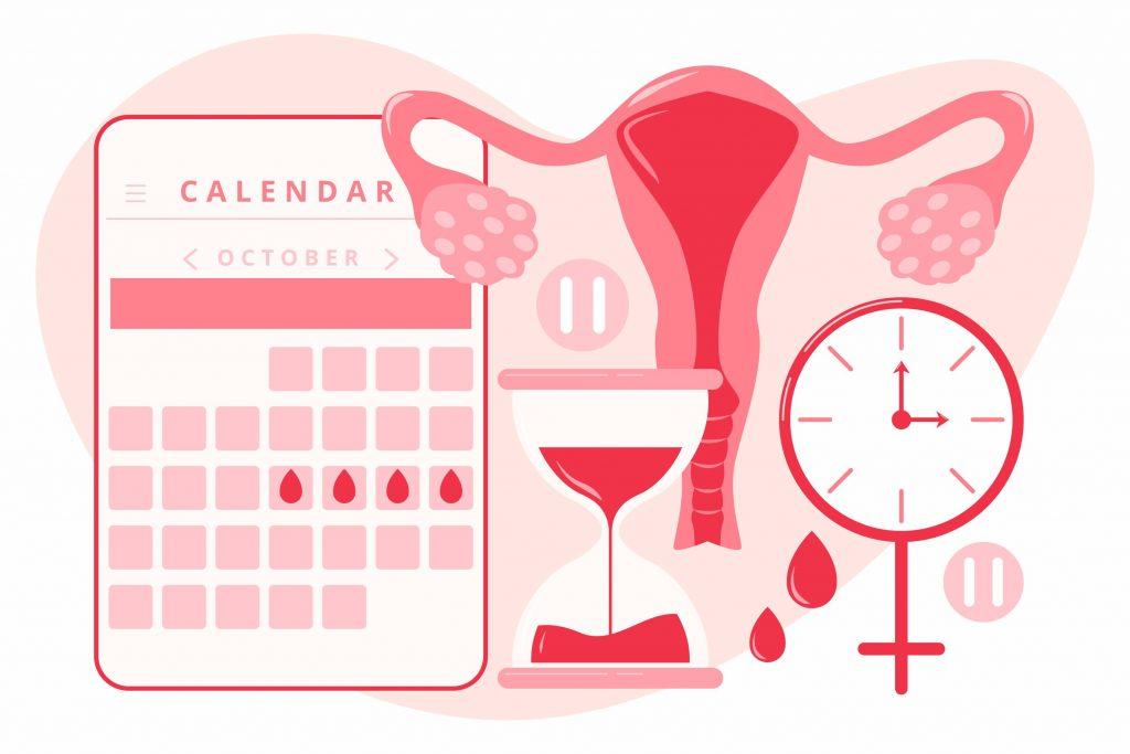 concetto di menopausa con illustrazione